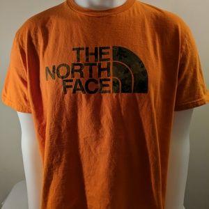 L North Face Orange T shirt